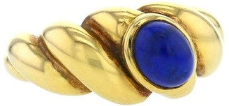 Van Cleef & Arpels 1970s Pre-Owned Yellow Gold Twisted Lapis-Lazuli Ring