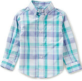 Class Club Little Boys 2T-7 Plaid Button-Front Long-Sleeve Shirt