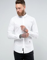 Religion Smart Shirt With Stretch and Collar Skull
