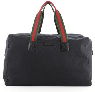 Gucci Web Carry On Duffle Bag GG Canvas Large