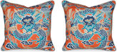 Miles Talbott Collection S/2 Imperial Dragon 19.5x19.5 Pillows