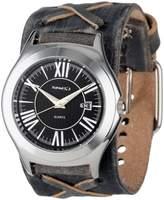Nemesis Unisex FXB099K Classics Faded Leather Band Watch