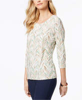 JM Collection Jacquard Printed Top, Created for Macy's