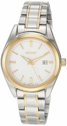 Seiko Women's Essentials Japanese Quartz Steel Two Tone Strap Silver/Gold 0 Casual Watch (Model: SUR636)