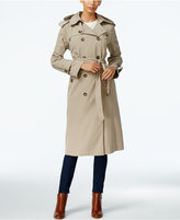 London Fog Hooded Double-Breasted Trench Coat, Only at Macy's