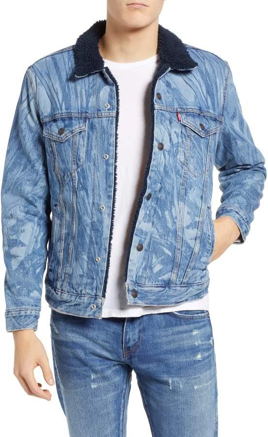 Levi's x Justin Timberlake Faux Shearling Collar Trucker Jacket