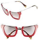 Miu Miu Women's 'Noir' 50Mm Semi-Rimless Sunglasses - Red