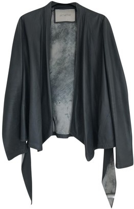 Alchemist Grey Leather Tops