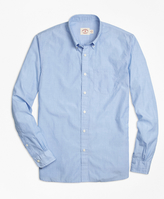 Brooks Brothers Solid Light Blue End-on-End Sport Shirt