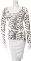Torn By Ronny Kobo Two-Tone Pattern Top