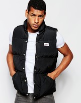 Penfield Shower Proof Outback Down Gilet - Black