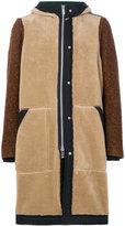 Sacai hooded coat - men - Cotton/Acrylic/Cupro/Alpaca - 2