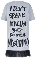 Moschino I Don't Speak Italian T-Shirt Dress