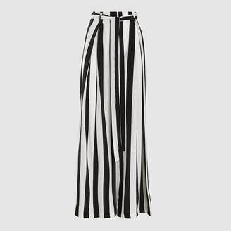 Leone We Are Multicoloured Striped Silk Palazzo Trousers Size XS