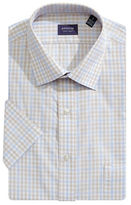 Arrow Short Sleeve Broadcloth Check Dress Shirt