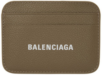 Balenciaga Grey Cash Logo Card Holder