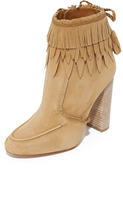 Aquazzura Suede Tiger Lily Booties