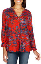 Lucky Brand Floral Printed High-Low Hem Shirt