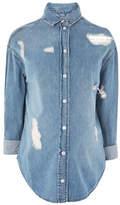 Topshop MATERNITY Ripped Denim Shirt
