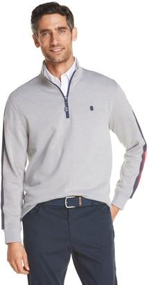 Izod Men's Advantage Performance Fleece Striped Quarter-Zip Pullover