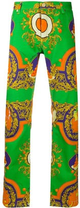 Casablanca Les Oranges straight-leg jeans