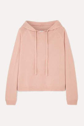 Allude Wool And Cashmere-blend Hoodie - Beige