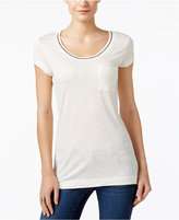 Calvin Klein Jeans Embellished Scoop-Neck T-Shirt