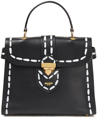 Moschino Printed Leather Tote