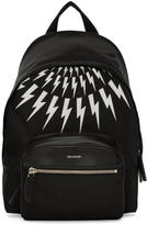 Neil Barrett Black and White Thunderbolt Day Backpack