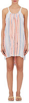 Lemlem Women's Aden Striped Cotton-Blend Cover-Up Dress-BLUE
