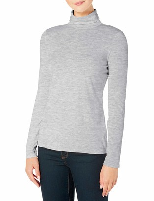 TAIPOVE Womens Ladies New Plain Turtle Polo Roll Neck Long Sleeve Stretch Jumper Casual T-Shirt Tee Top Grey