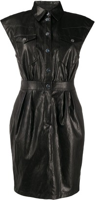 Pinko Leather Shirt Dress