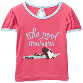 Kickee Pants Short Sleeve Graphic Print Puff Tee (Baby Girls)