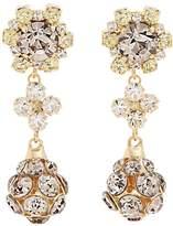 Erdem Crystal-embellished drop clip-on earrings