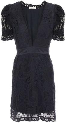 LoveShackFancy Daniela Crocheted Cotton Lace Mini Dress