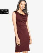 Ann Taylor Draped Ponte Sheath Dress