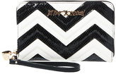 Betsey Johnson Suite Life Chevron Large Wallet