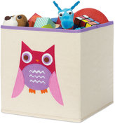 Whitmor Kids Canvas Collapsible Cube, Pink Owl