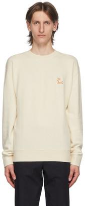 MAISON KITSUNÉ Off-White Yoga Fox Regular-Fit Sweatshirt
