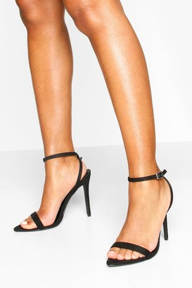boohoo Barely There Pointed Toe Two Part Heel Sandals