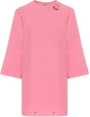 Gucci Silk and wool cady minidress