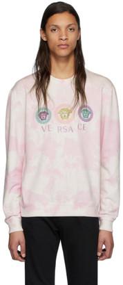 Versace Pink Tie-Dye Medusa Sweatshirt