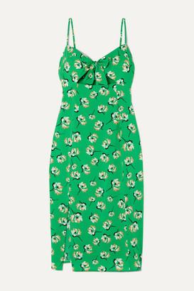 Vix Teresa Cutout Floral-print Voile Dress - Green