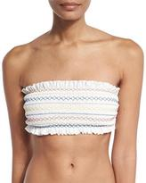 Tory Burch Costa Bandeau Swim Top, New Ivory