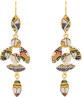 Isabel Marant Marley enamel bird drop earrings
