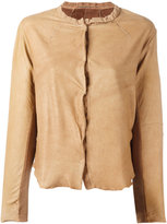 Transit - leather jacket - women - Cotton/Leather - 1