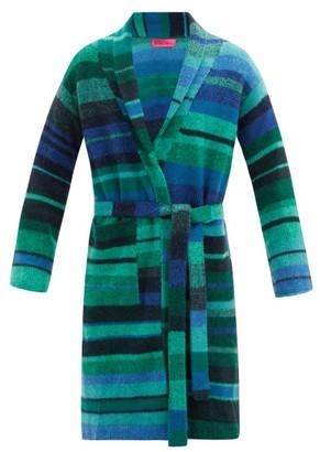 The Elder Statesman Italy Striped Cashmere Robe - Multi