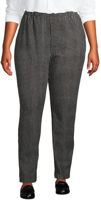 Lands' End Plus Size Sport Knit High-Rise Corduroy Pull-On Pants