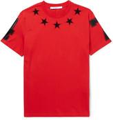 Givenchy - Cuban-fit Appliquéd Cotton-jersey T-shirt