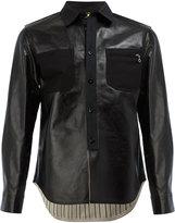 Junya Watanabe Comme Des Garçons Man shirt leather jacket